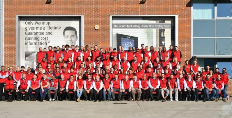 warmup plc group photo